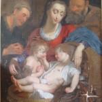 Copie d'une Vierge à l'enfant de Rubens avant restauration