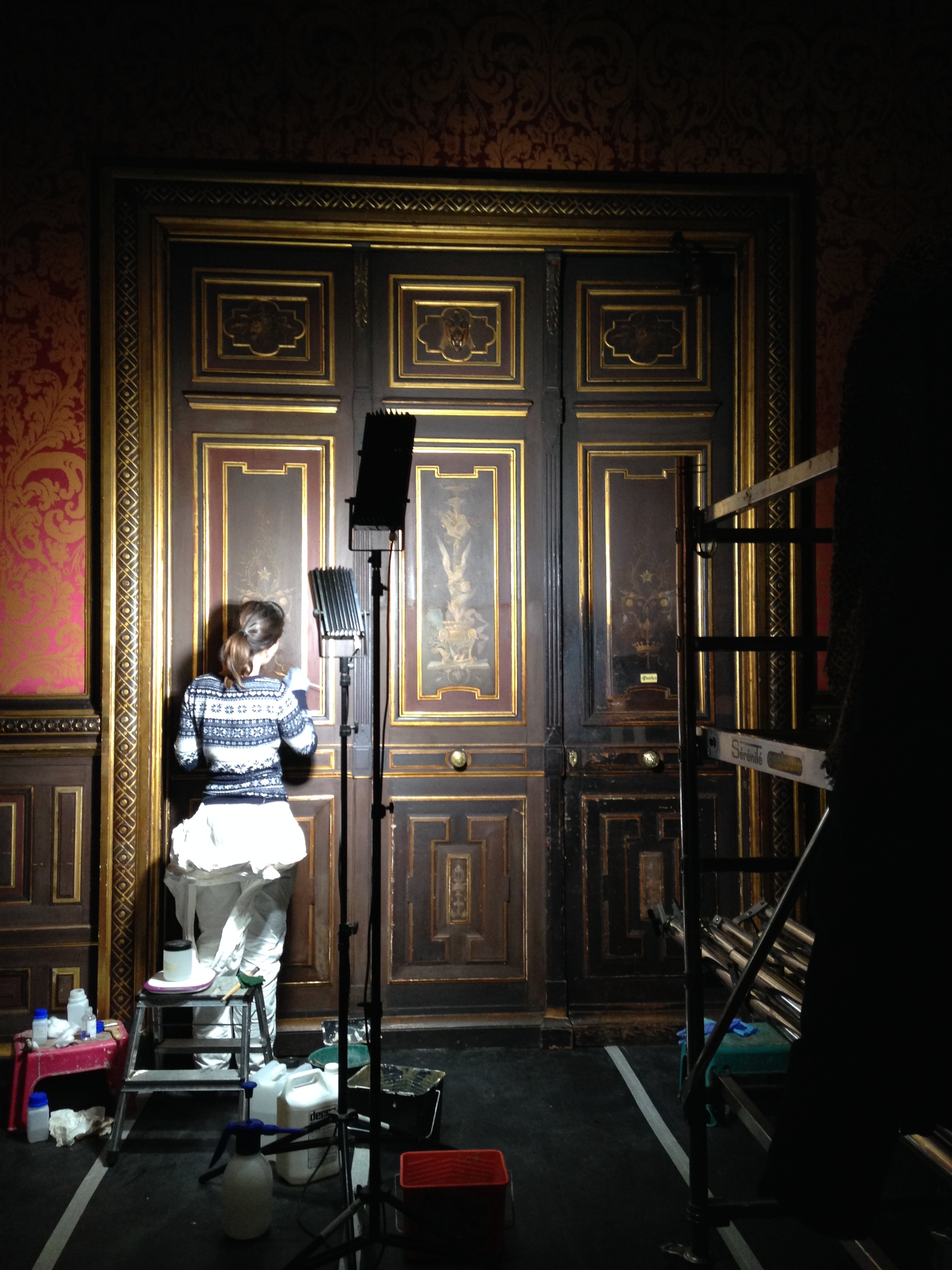 Restauration de boiseries atelier virginie le poizat for Salon restauration paris