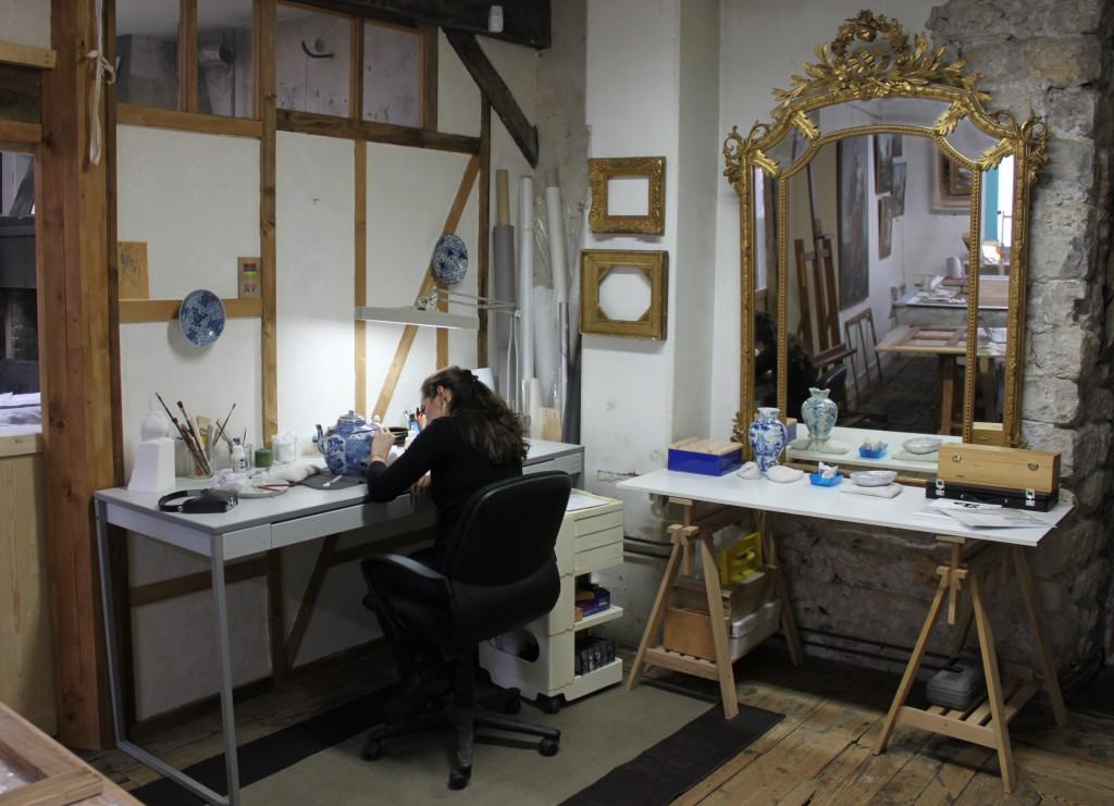 Atelier de restauration de céramiques