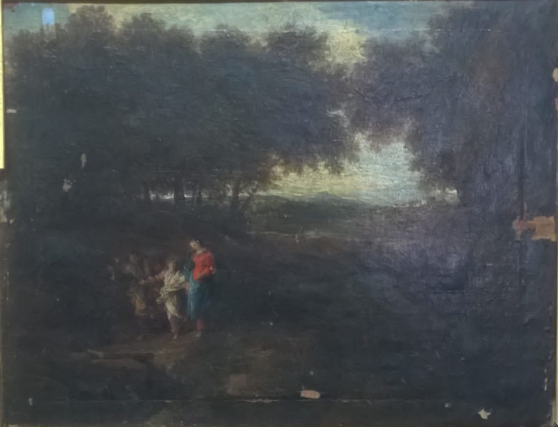 Peinture XVIIème avant restauration